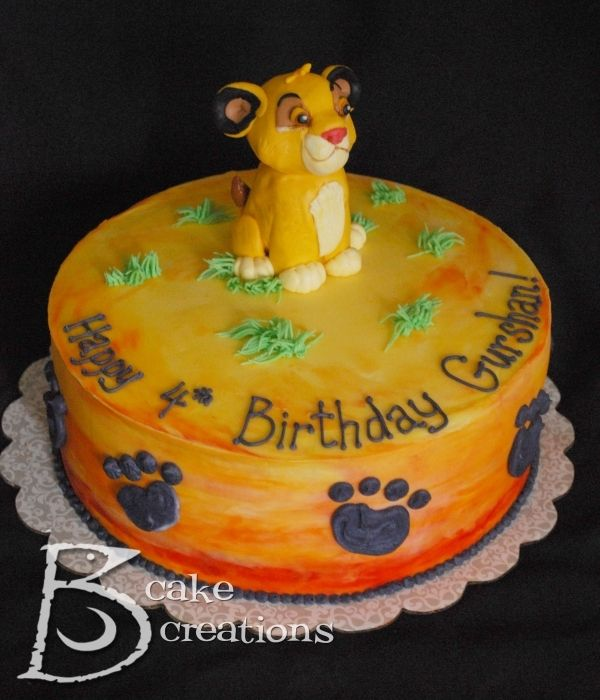 Lion King Cake With Images Lion King Cakes Lion Guard