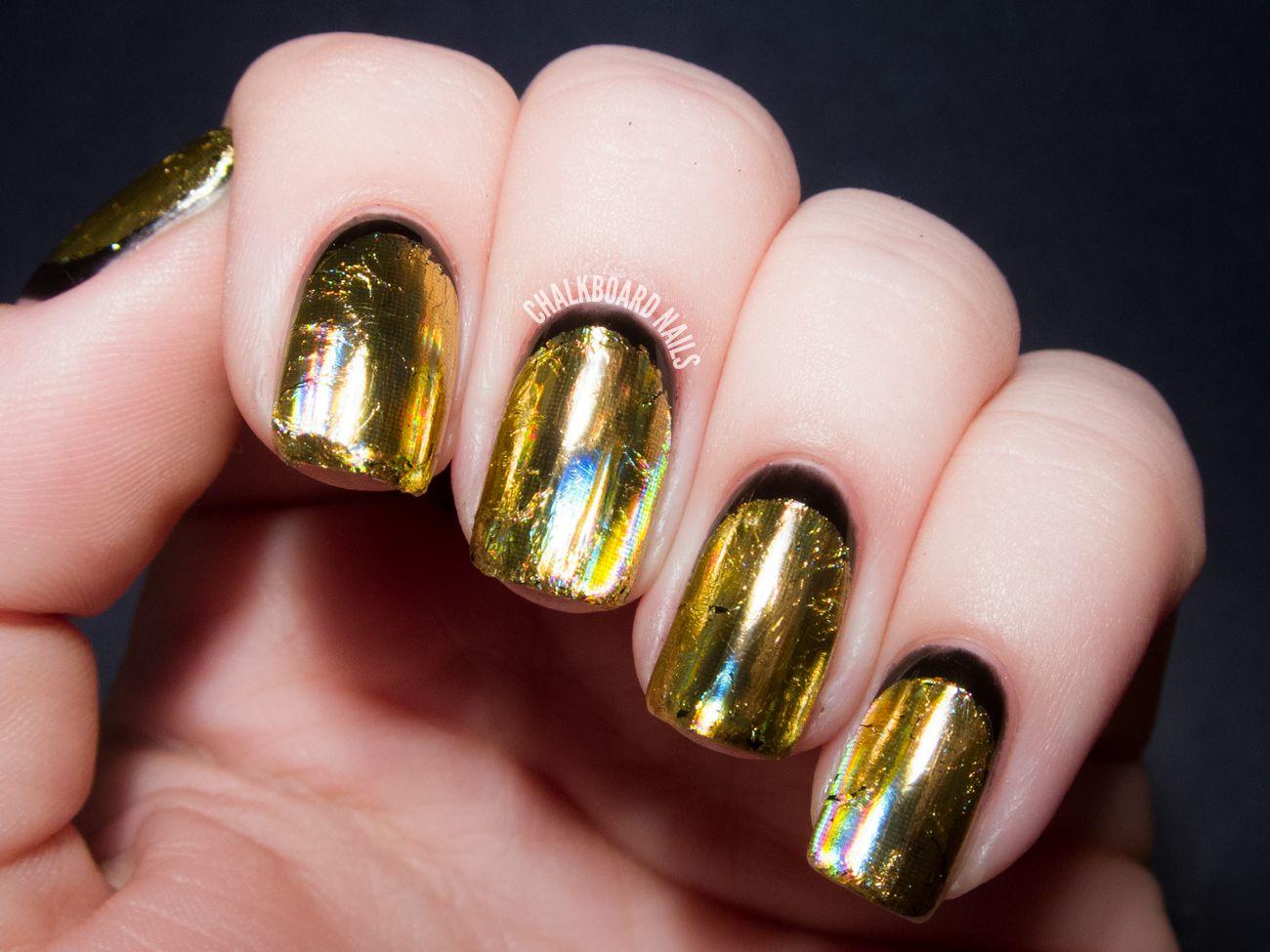 Gold Chrome Nail Polish Mirror Chrome Nail Polish