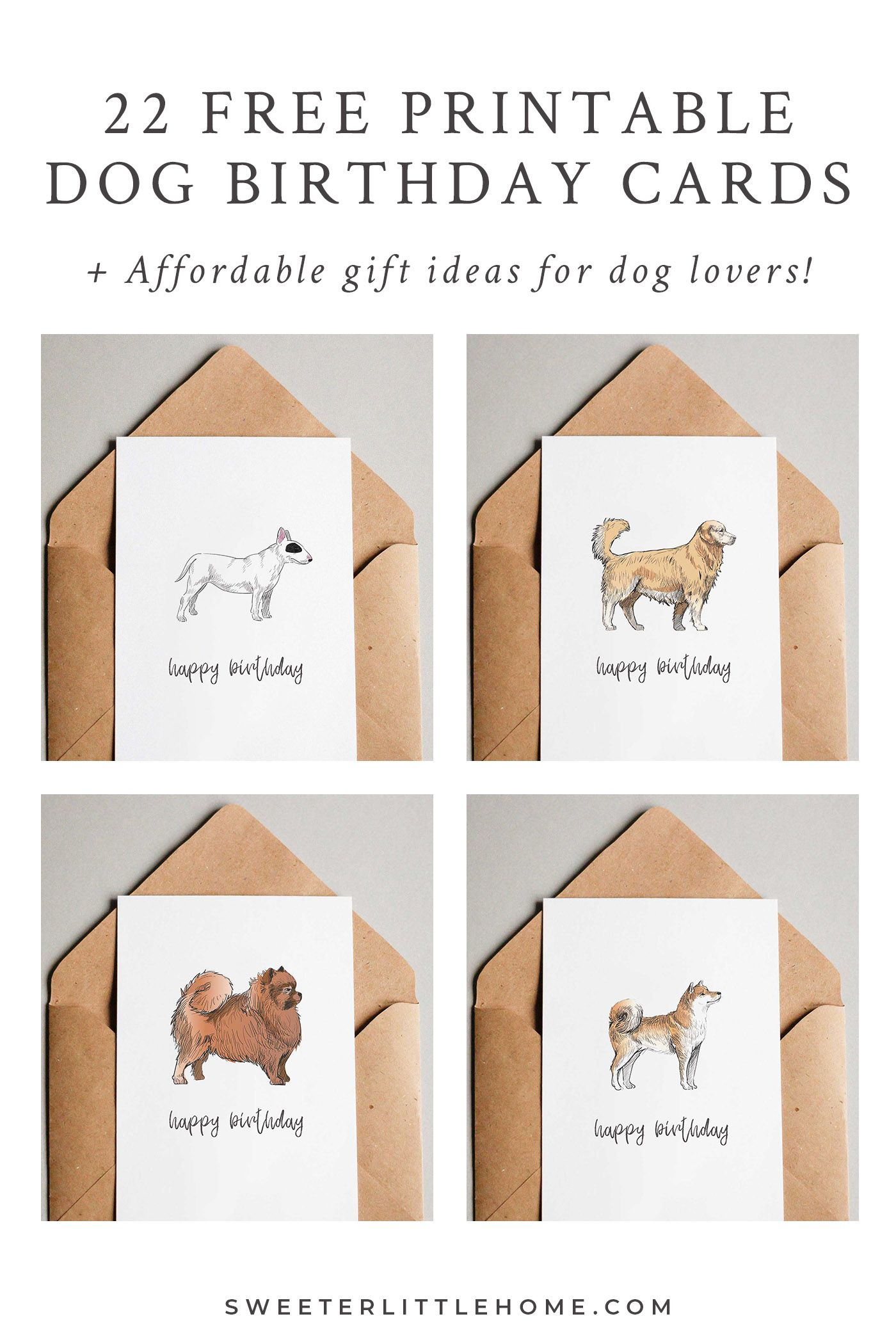 These Cute Free Printable Dog Birthday Cards Are A Great Way To Wish The Lover