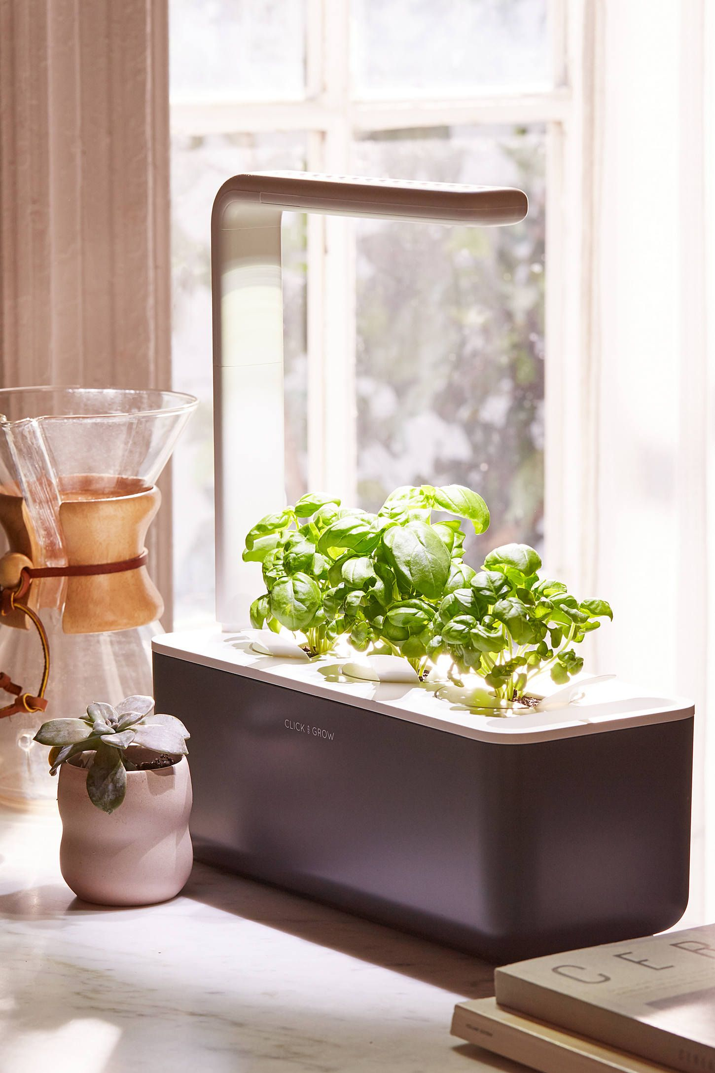 Click Grow Smart Herb Garden 3 Starter Kit Growing Food Indoors Herbs Indoors Indoor Herb Garden