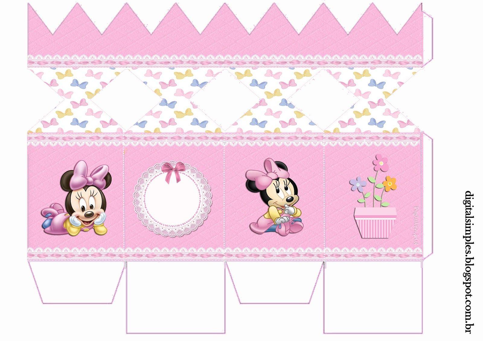 Kit De Personalizados Minnie Mouse Baby Para Imprimir Cha De