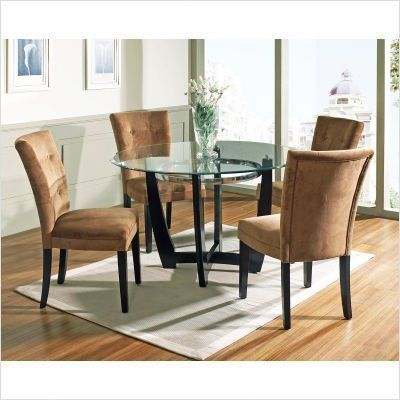 Bundle 10 Matinee Dining Table Set With Camel Parson Chair 4 Pieces