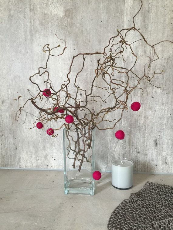 Pom pom garland home decor garland pom pom by woolpleasure Home
