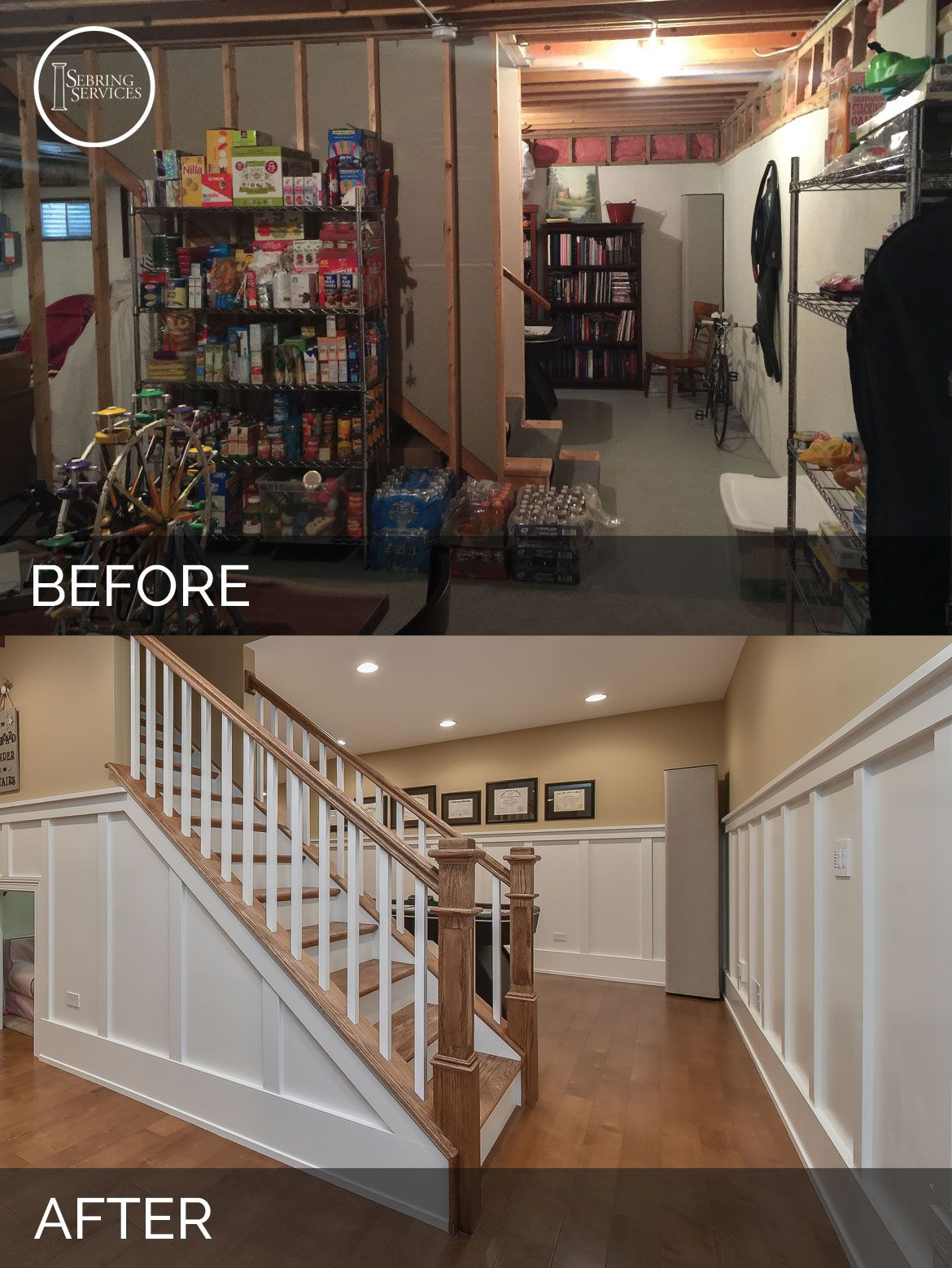 A Naperville Basement Before & After Pictures Basement