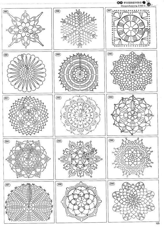 Mis Pasatiempos Amo el Crochet: 2146 Patrones gratis de motivos ...