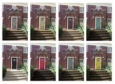 image result for red brick house color schemes