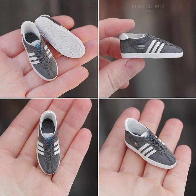 1/6 scale Shoes Adidas Gazelle for portrait doll by striped-box ...