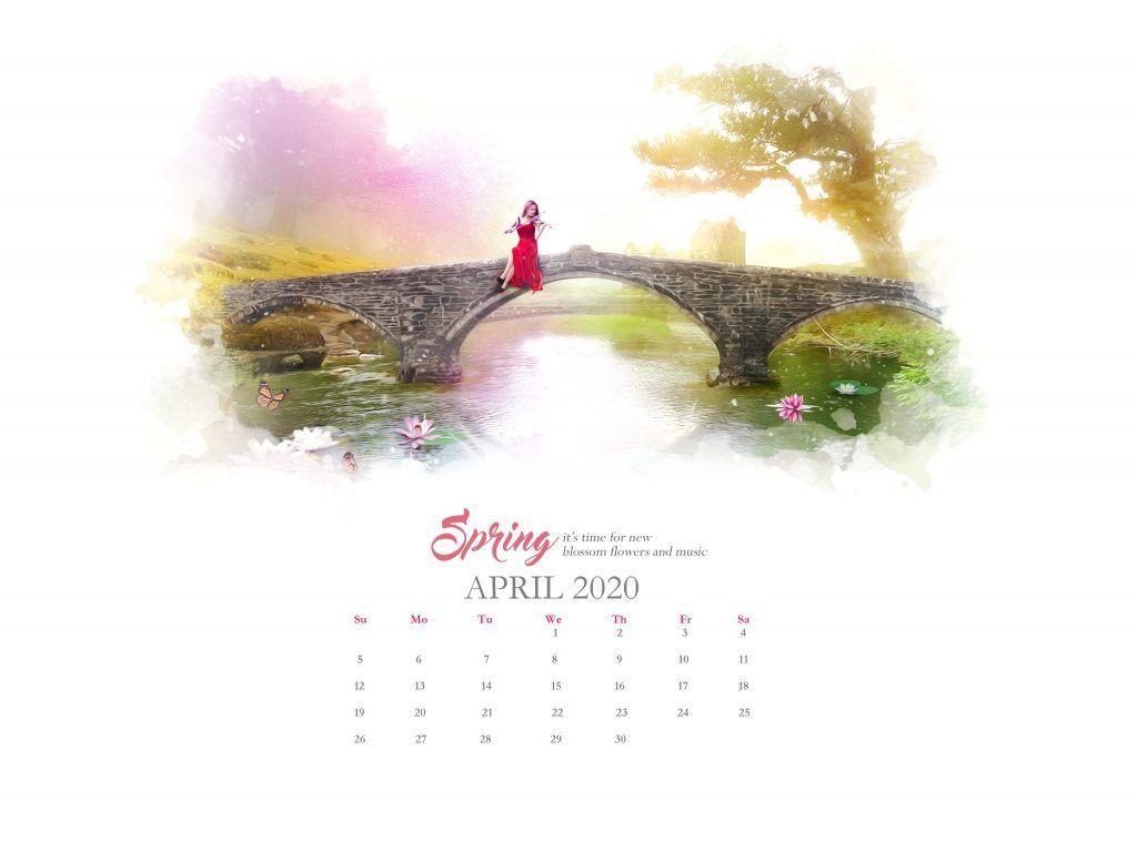 April 2020 Wallpaper Calendar Calendar Wallpaper Wallpaper Floral Wallpaper