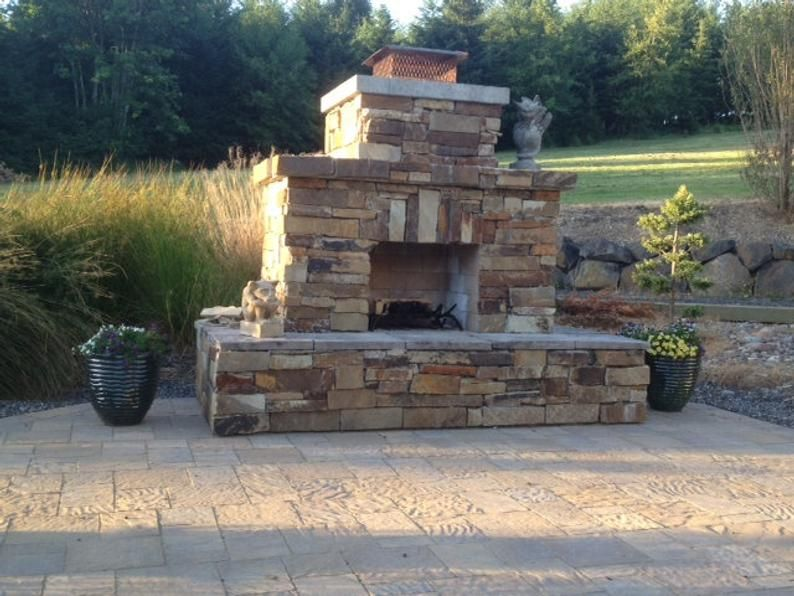 Pima Diy Outdoor Fireplace Plan Etsy In 2021 Outdoor Fireplace Plans Diy Outdoor Fireplace Outdoor Fireplace Designs