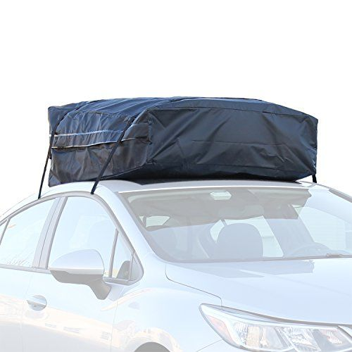 Car Roof Bag 100 Waterproof Roof Top Cargo Bag No Rack Needed Non Slip Roof Mat Storage Bag For Any Car Van Or Suv 15 Cubic Feet Car