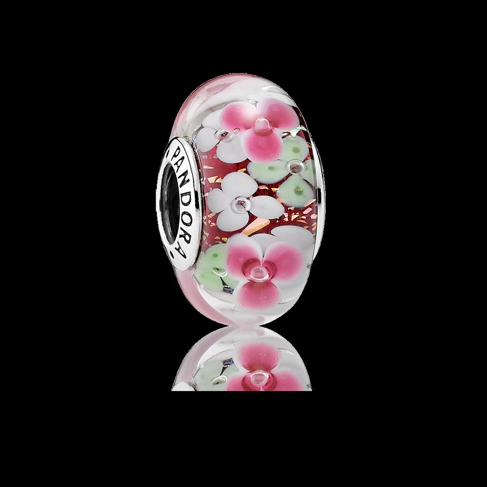 Such a pretty new charm pandora flower garden charm is made of such a pretty new charm pandora flower garden charm is made of german and murano sciox Images