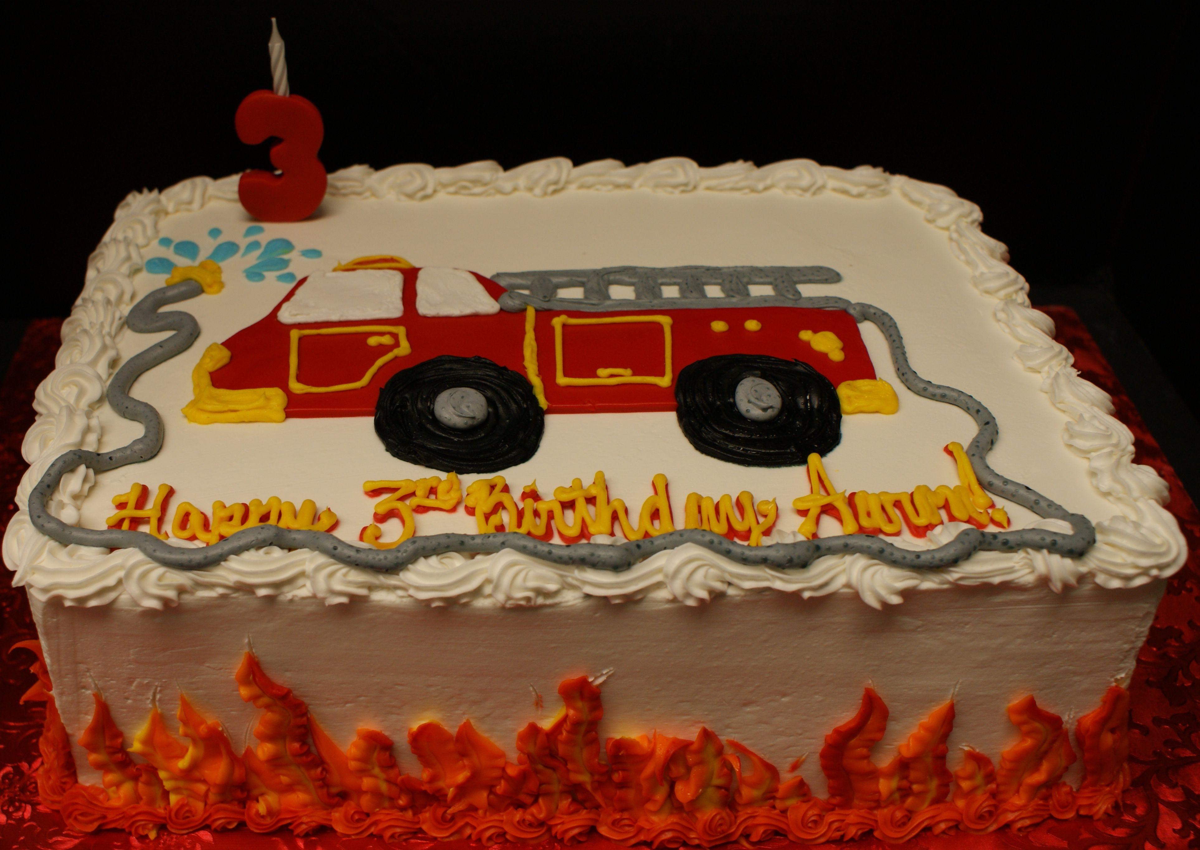 Terrific Firetruck Cake Firetruck Birthday Party Firefighter Birthday Funny Birthday Cards Online Overcheapnameinfo