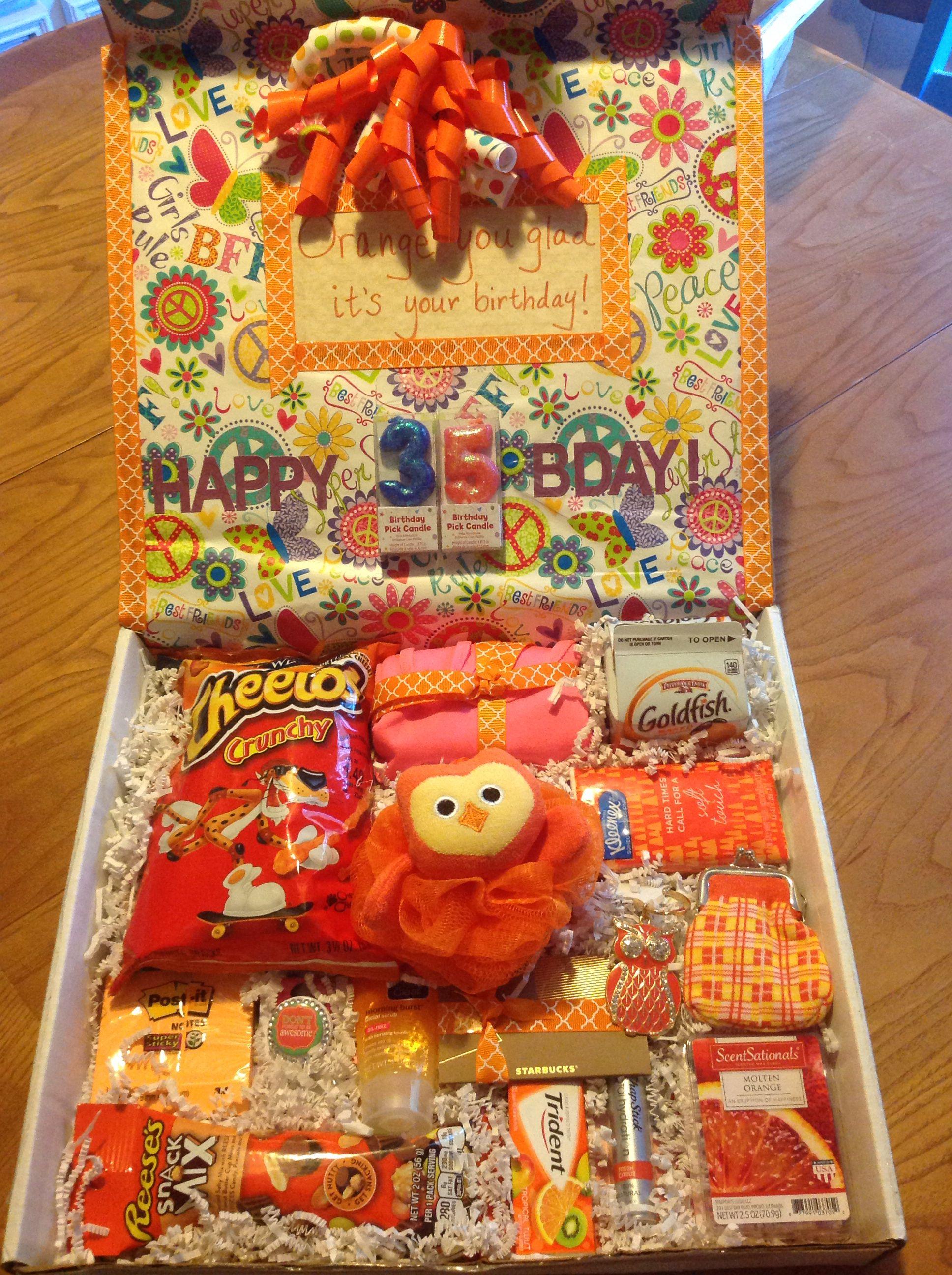 Orange you glad its your birthday gift box birthday