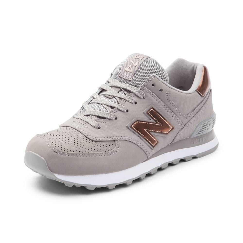 Womens New Balance 574 Athletic Shoe - Gray Bronze - 401551  24ab1a8cdd
