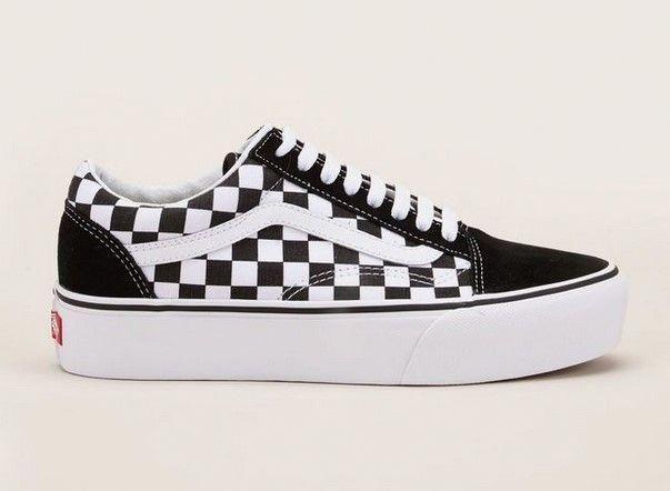 bonne texture la meilleure attitude mieux aimé Vans Old Skool Sneakers à plateforme à damier noir/blanc pas ...
