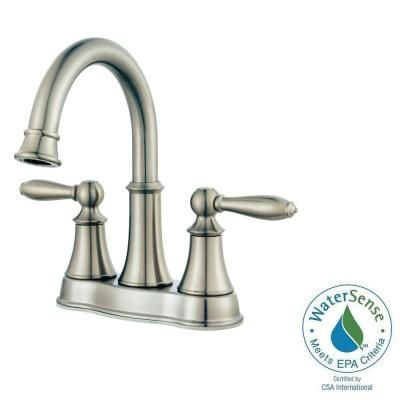 Pfister Courant 4 In Centerset 2 Handle Bathroom Faucet In