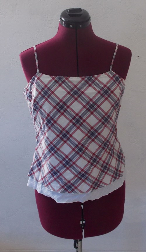 19.99$  Watch here - http://visom.justgood.pw/vig/item.php?t=mxysvo3727 - Tommy Hilfiger Plaid Tank Top Size 4 100% Cotton Spaghetti Straps Summer Beach 19.99$