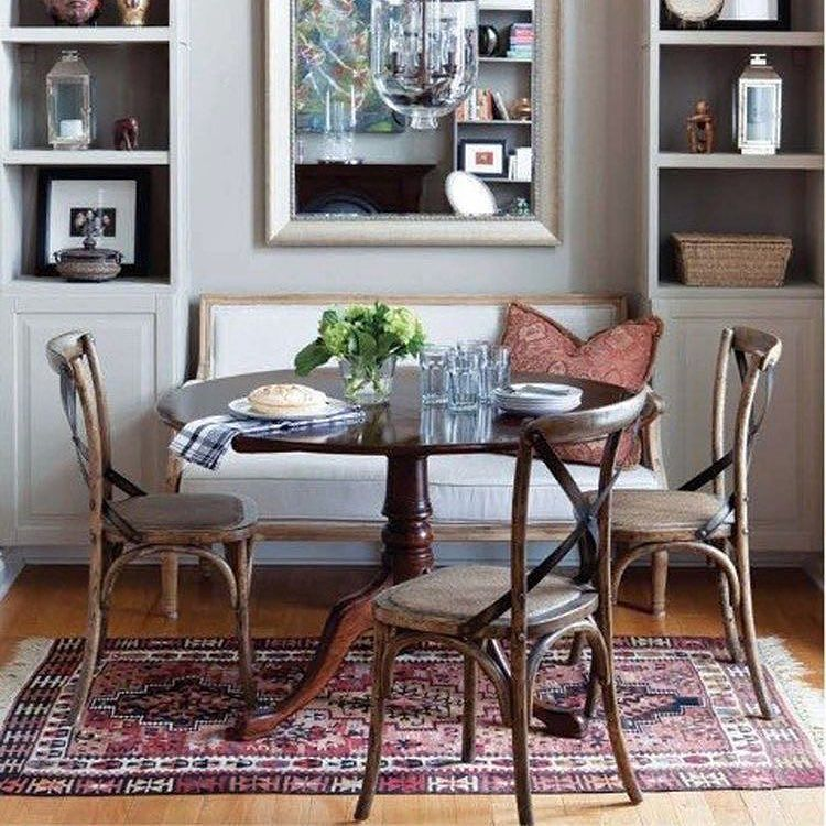 15 Small Dining Room Table Ideas Tips: Mixed Seating Try Mixing Canalside Interiors' Pearson Sofa