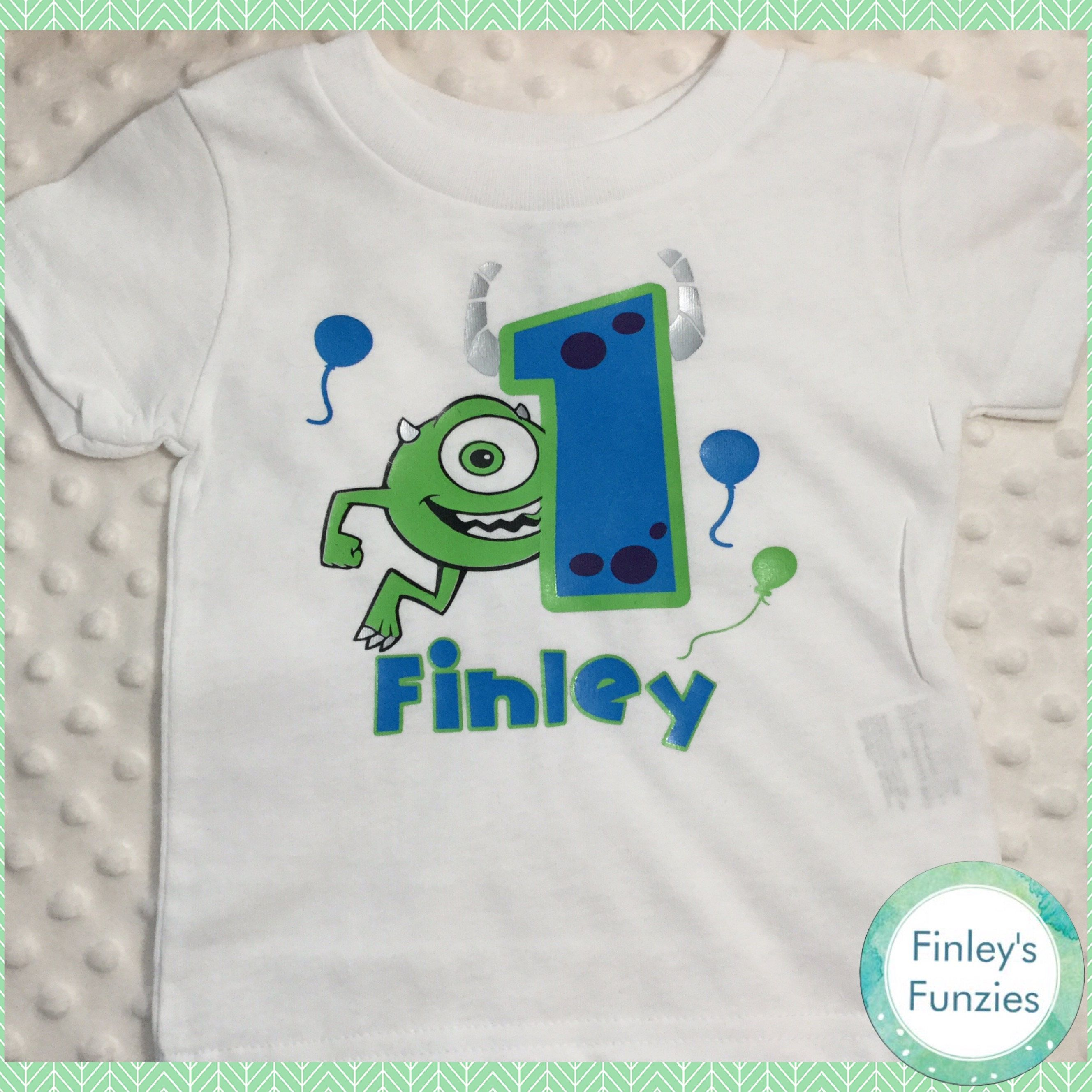 0378dc9d Monsters inc birthday shirt Baby Onesie toddler shirt by FinleysFunzies on  Etsy