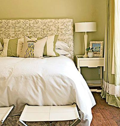 fetching image of bedroom decoration using sage green | Sage Green bedroom | Sage green bedroom, Green bedroom ...