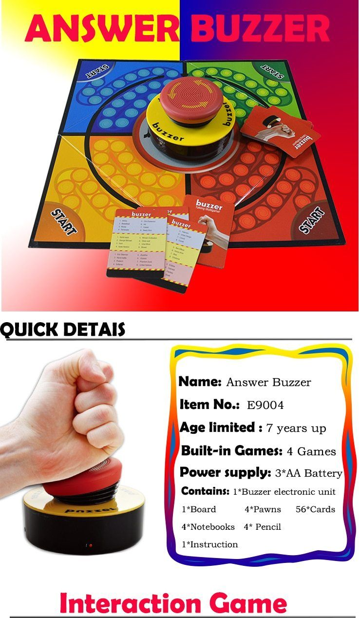 Family Buzzer Game Funny Learn Machine Educational Learning Resources Quiz Answer Game Buzzer Toy For Children