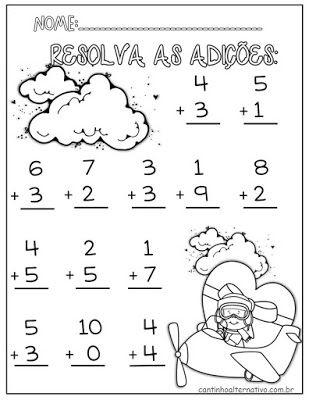 Atividades De Alfabetizacao Matematica Para Imprimir Blog