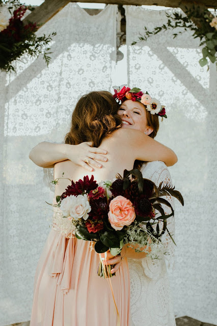 Boho Romantic Summer Country Wedding Bridal Bouquet With Feathers