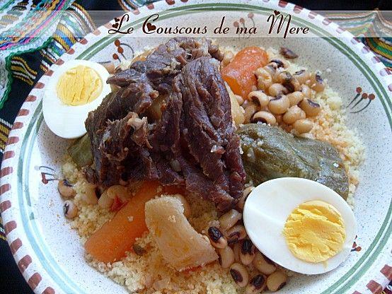 Couscous kabyle a la viande s ch e couscous au guedid for Cuisine kabyle