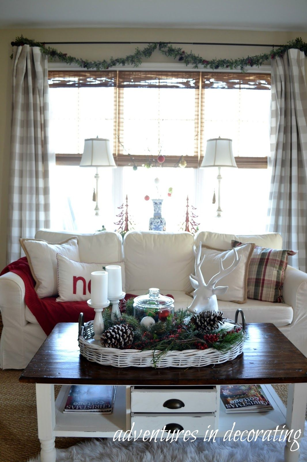 Window decor for christmas  adventures in decorating our  christmas great room