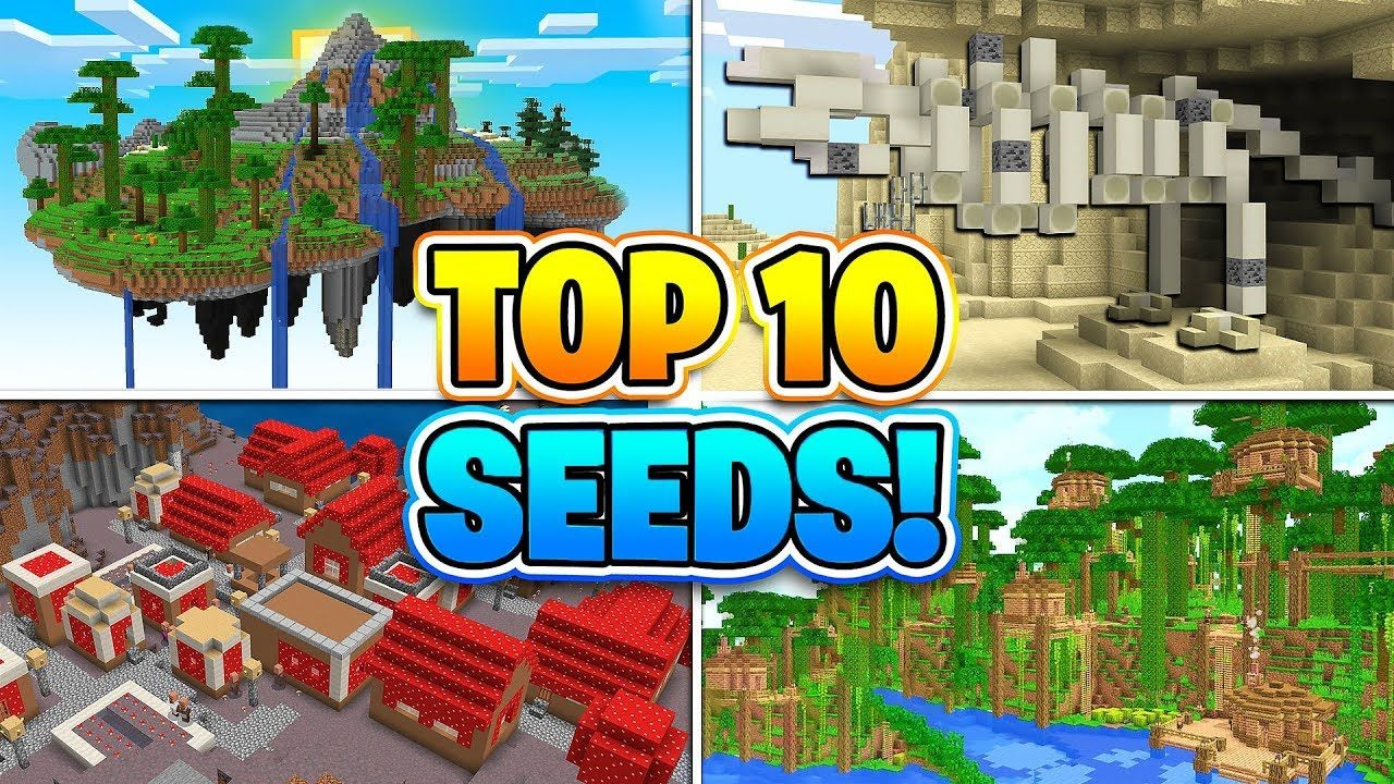 TOP 10 BEST SEEDS FOR MINECRAFT! (Pocket Edition, PS10, Xbox