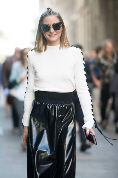 Olivia Palermo Seen Before The Msgm Fashion Show Milan Fashion Week Spring Summer 2018 On