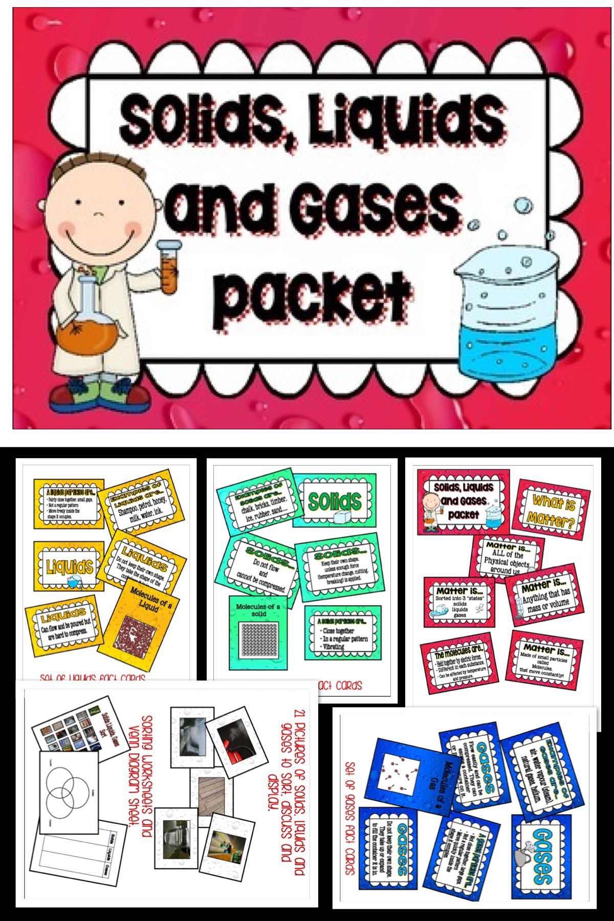 Matter Solids Liquids And Gases Packet Matter Science Printable Teaching Resources Teaching Resources Primary [ 1800 x 1200 Pixel ]