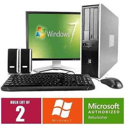 Hp Lot Desktop Computer 7900 Pc Core 2 Duo 3 0ghz 4gb 160gb Win 7 19
