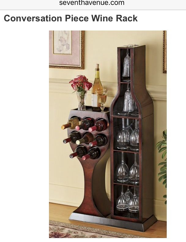 Conversation Piece Wine Rack | Seventh Avenue | Vinos | Pinterest