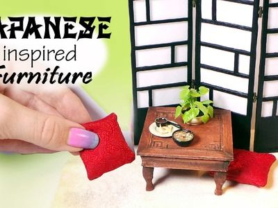 Japanese Inspired Miniature Furniture Tutorial. Dolls.Dollhouse #miniaturefurniture