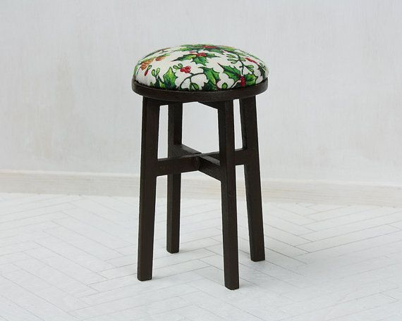 miniature stool for 1/6 scale dolls  #furniturefordolls #minifurniture #barbiefurniture #dollfurniture #playscale