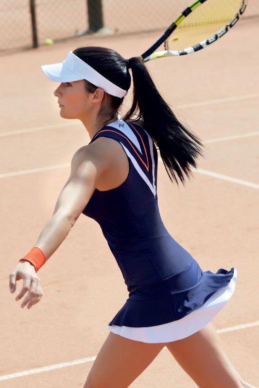 Vestido de volantes con short a juego  #paddel #tennis #naffta