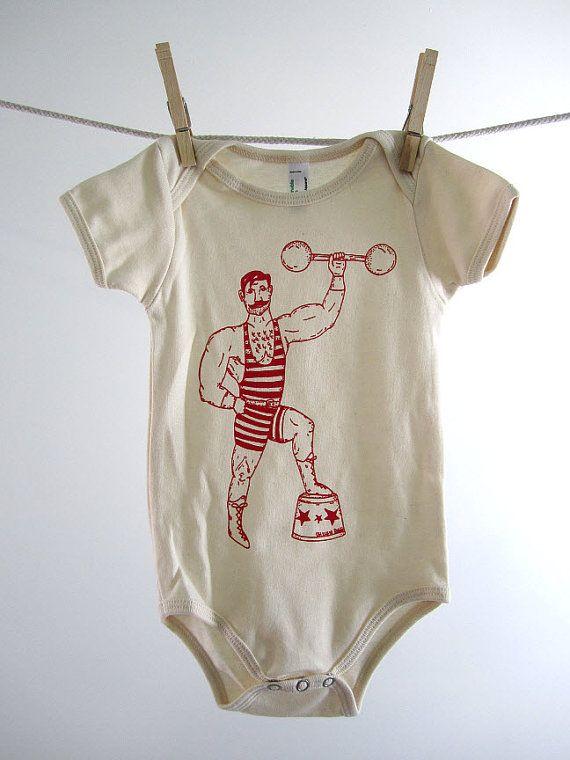 Organic Onesie Hand Screen Printed American Apparel Baby