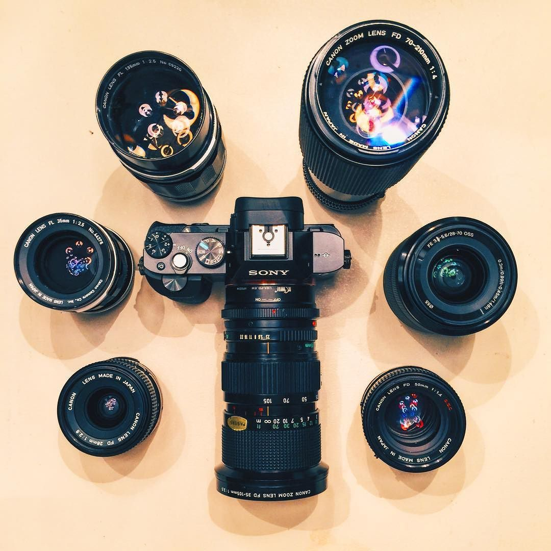 Sam Holt On Instagram Camera Setup Sony A7 With The Sony 28 70mm F 3 5 Kiwi Emount Canon Fd Flmount Dslr Or Mirrorless Whats In My Camera Bag Camera Bag