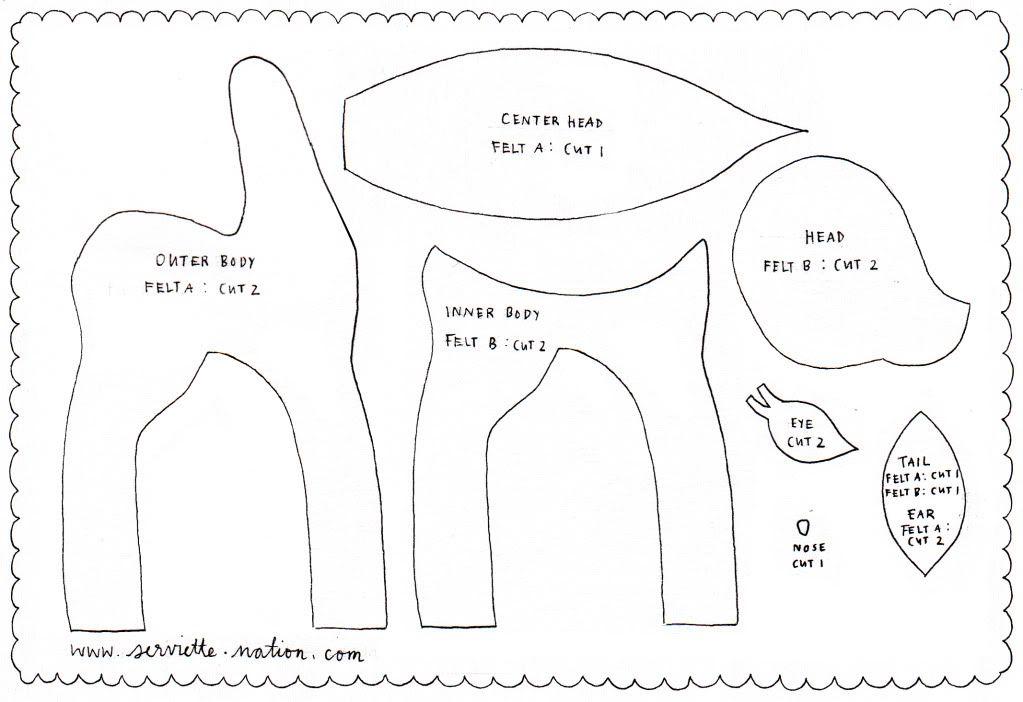 How to Make a Felt Deer Craft Ideas Felt, Felt crafts, Felt