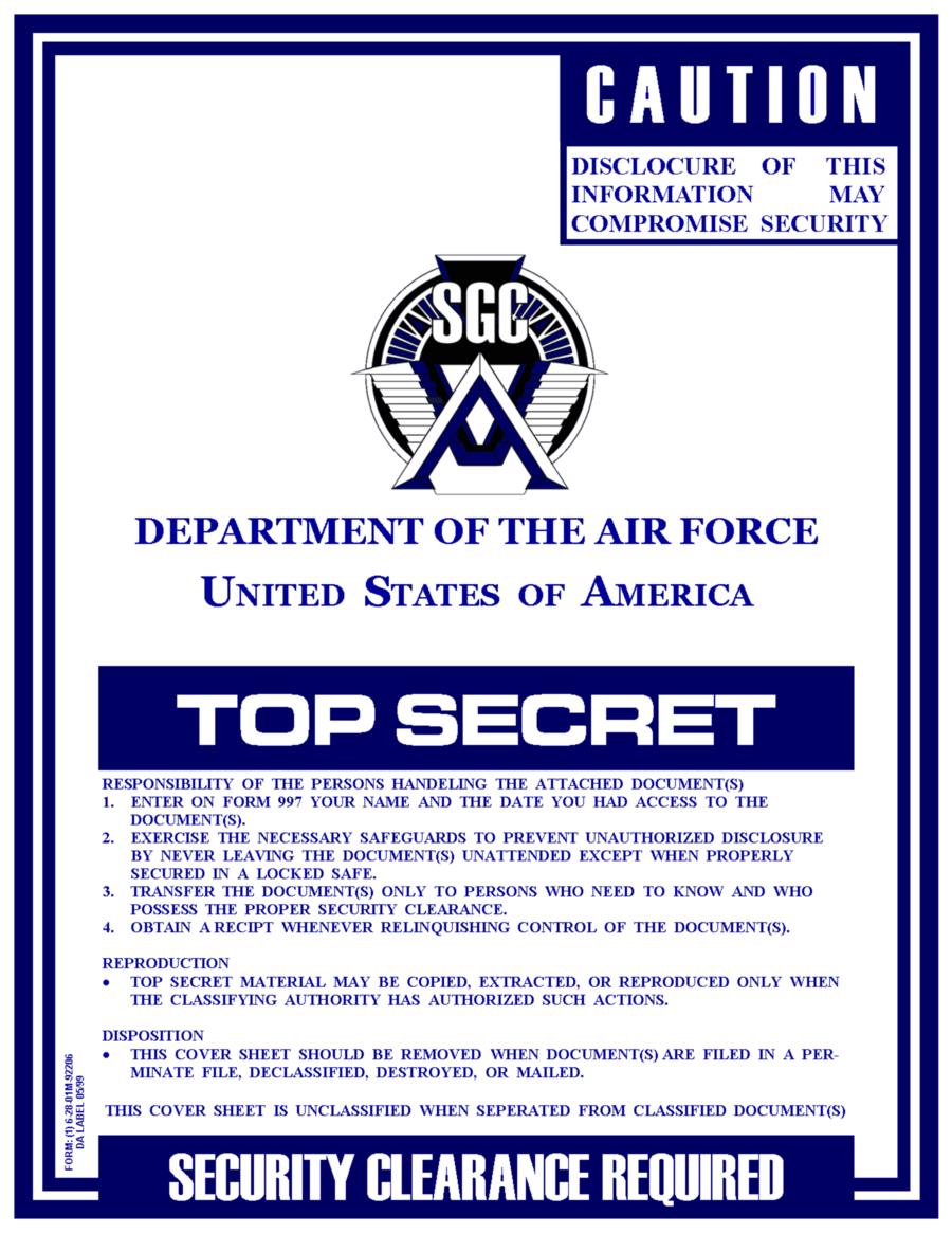 stargate report cover sheet by viperaviator deviantart com