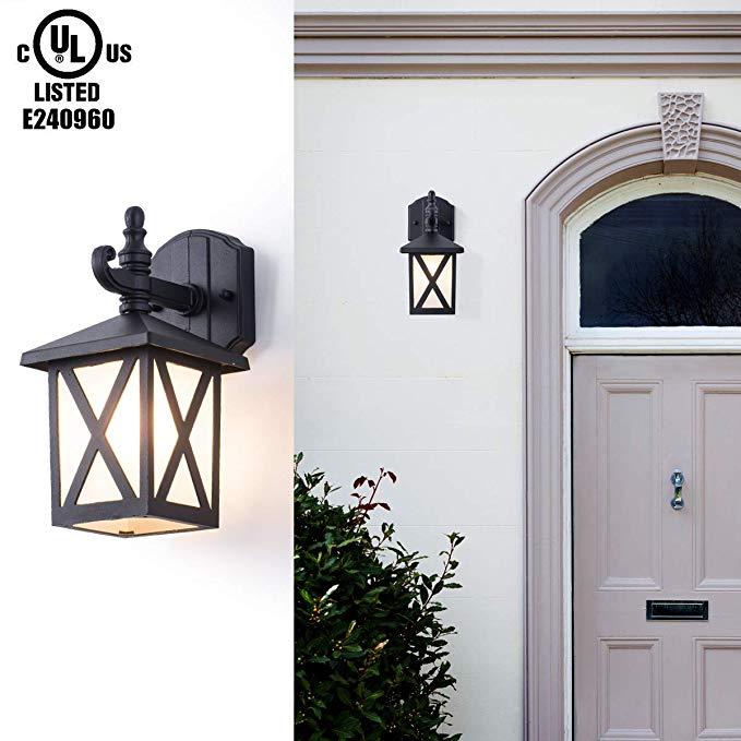 Gorgan Crossover Outdoor Wall Lantern Exterior Wall Mounted Porch Light Fixture Waterproof Aluminum Ho Outdoor Wall Lantern Porch Light Fixtures Porch Lighting