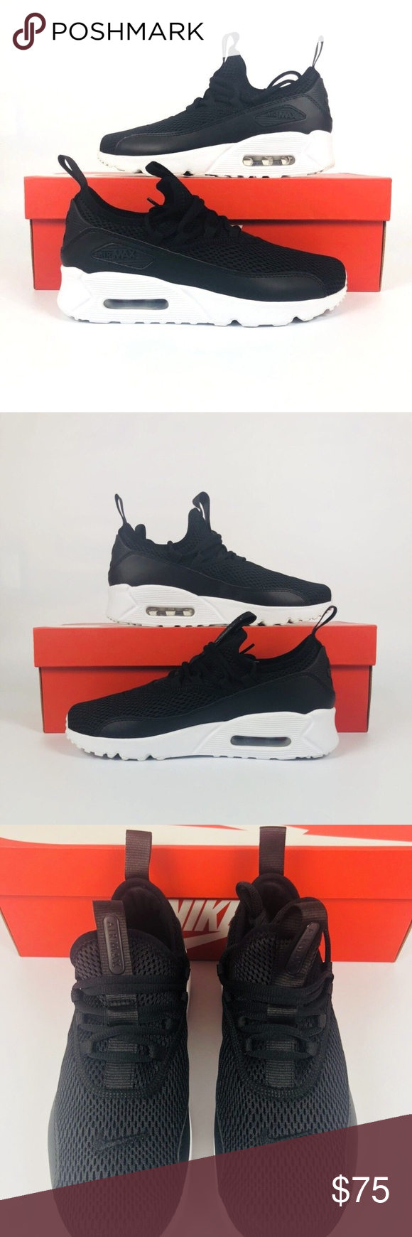 64f4c92530 Nike Air Max 90 EZ GS Nike Air Max 90 EZ GS Black White Kids Youth Running Shoes  AH5211-005 New With Box Nike Shoes Sneakers