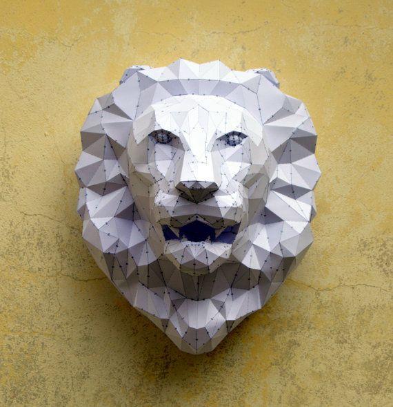 Make Your Own Lion Sculpture | Papercraft Lion | Paper Lion | Lion