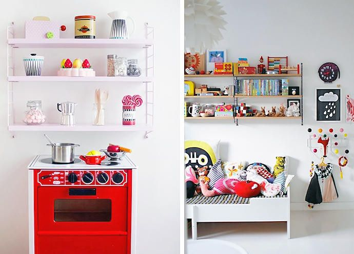 Modern wall shelves for kids modern wall shelves and modern for Kids room shelves