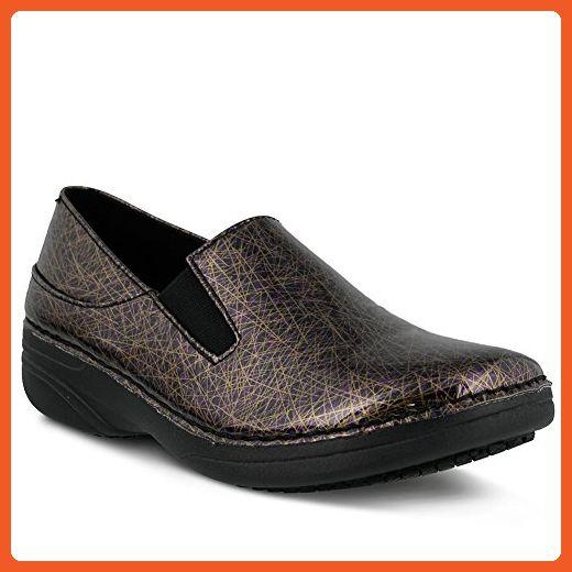 Spring Step Professional Womens Ferrara Energy Shoe, PURPLE MULTI, Size - 6  - Loafers
