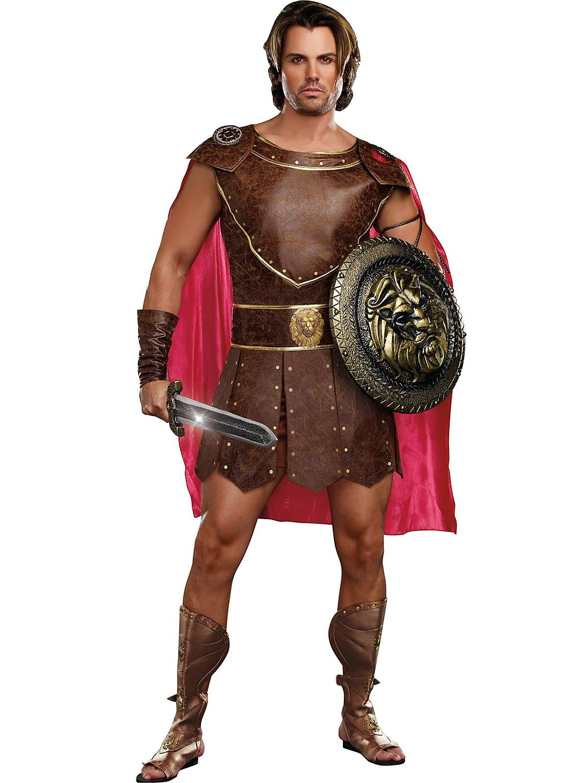 Mens Hercules Costume Cheap Greek/Roman Halloween for