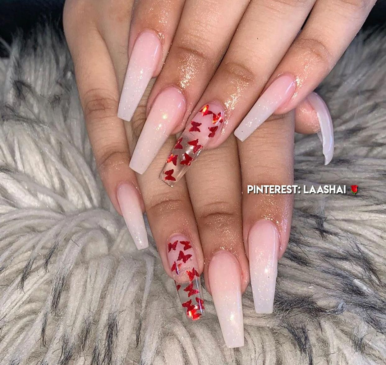 Pin By Jasmine Vargas On Essi Nails Long Acrylic Nails Coffin Clear Acrylic Nails Red Acrylic Nails