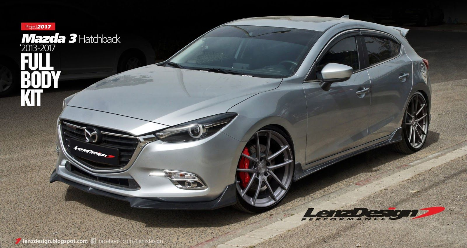 mazda 3 bm axela hatchback body kit tuning lenzdesign. Black Bedroom Furniture Sets. Home Design Ideas