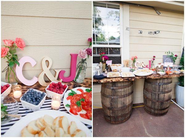 Initials | Backyard reception | Pinterest | Centrepieces ...